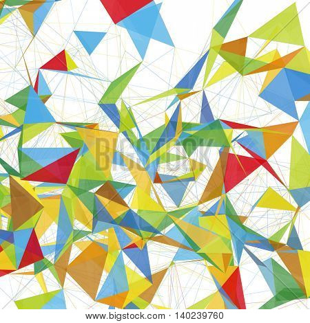 Abstract Shapes Background with Colors of Summer | EPS10 Futuristic Design