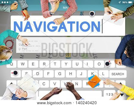 Navigation Location Travel Search Trip Concept