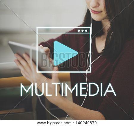Multimedia Communication Technology Network Concept