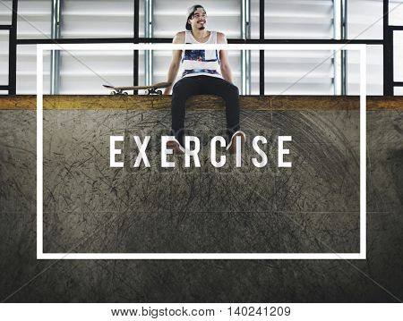 Get Fit Exercise Fitness Physical Training Workout Concept