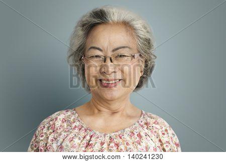 Senior Woman Cheerful Happiness Retirement Concept