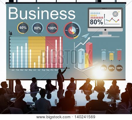 Analytics Business Statistics Data Strategy Concept