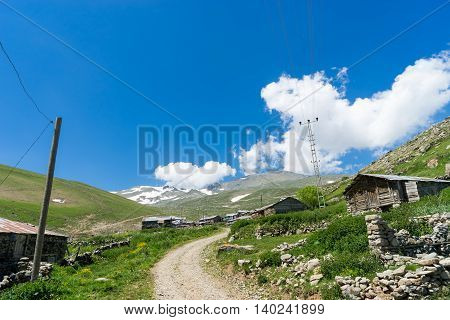 Highland Village Among Mountains In Summer In The Giresun - Turkey