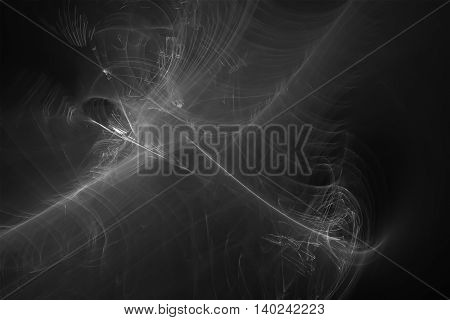 black and white glow energy wave. lighting effect abstract background.