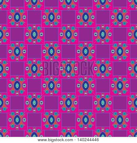 Abstract geometric colorful seamless pattern for background.