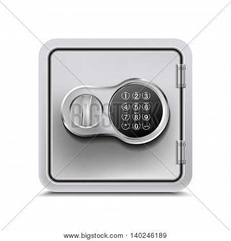 Metal Safe isolated on a white background