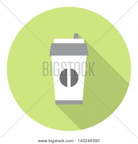 Coffe Paper Cup Flat Icon
