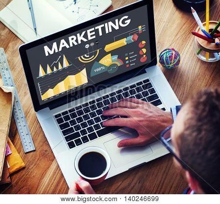 Marketing Percentage Business Chart Concept