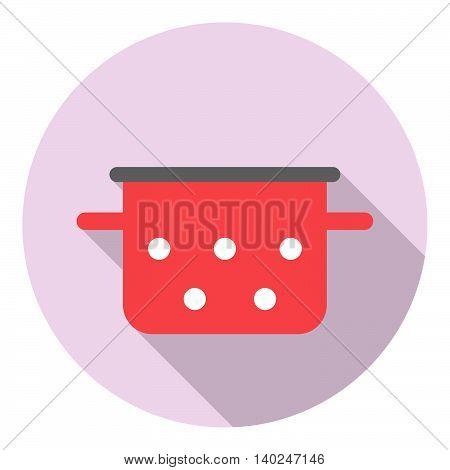 Saucepan Kitchen Equipment Flat Icon