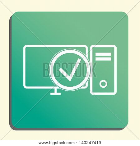 Pc Accept Icon In Vector Format. Premium Quality Pc Accept Symbol. Web Graphic Pc Accept Sign On Gre
