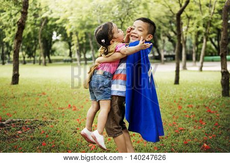 Sibling Playful Dressup Park Concept