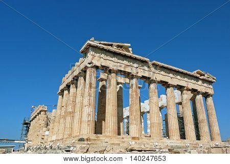 Beautiful view of Parthenon of Athens, GREECE.