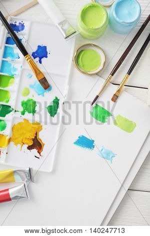 Painting tools, watercolor painting