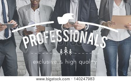 Professional Performance Skill Expert Talent Concept