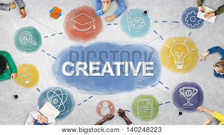 Creative Think Big Brainstorming Graphic Concept