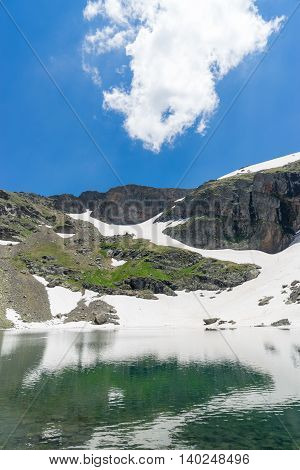 Crater Lake Sky And Reflection, Giresun - Turkey