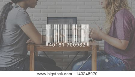 Barcode Label Laser Logistics Storage Scanning Concept