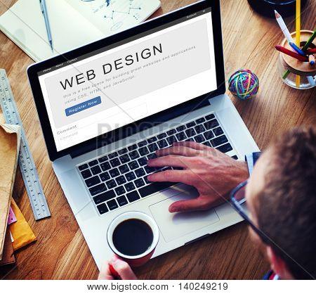 Website Design Homepage Layout Creativity Concept