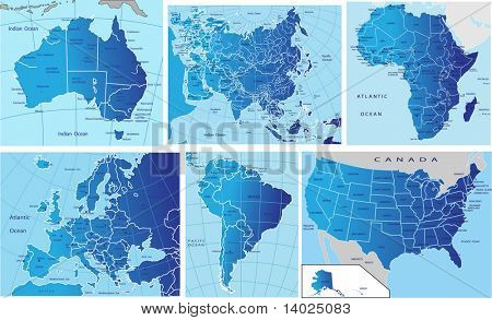 Mapa político de continentes