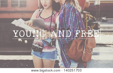 Young Free Enjoyment Teen Age Concept