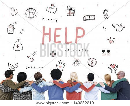 Help Donations Charity Foundation Support Concept