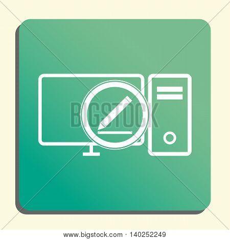 Pc Modify Icon In Vector Format. Premium Quality Pc Modify Symbol. Web Graphic Pc Modify Sign On Gre