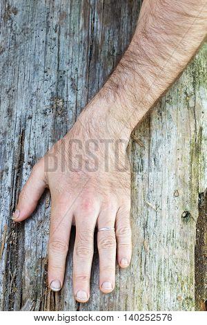 Hairy Hand Of White Man