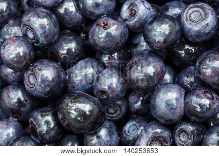 Ripe Blueberries As Background