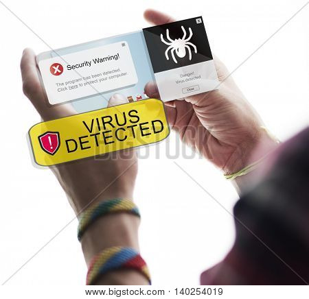 Virus Detected Digital Connection Concept