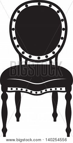 Modern Neoclassic chair . Vector furniture sketch