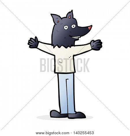 cartoon werewolf
