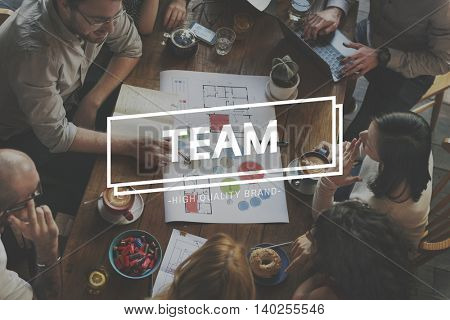 Team Business Start up Poject Text Concept