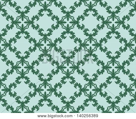 Vintage floral ornament pattern. Vector abstract decor for backgrounds texture textile cards