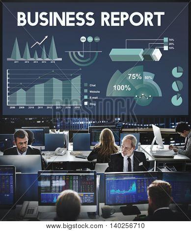 Business Report Analytics Marketing Report Concept