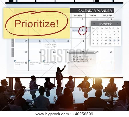 Prioritize Effectivity Importance Tasks Urgency Concept