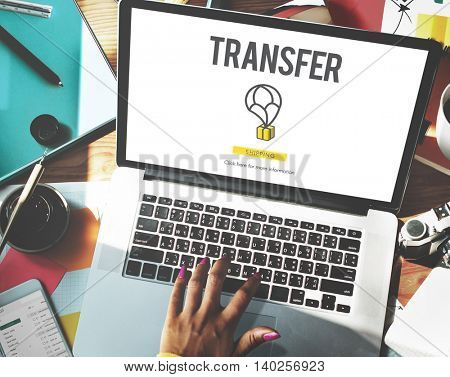 Transfer Network Payment Trading Banking Digital Concept