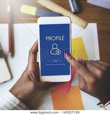 Add Friends Social Media Graphic Concept