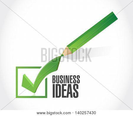 business ideas checkmark sign concept illustration design graphic