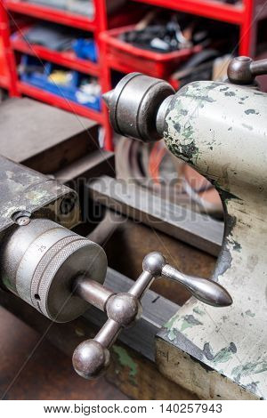 industrial boring mills instruments close up view