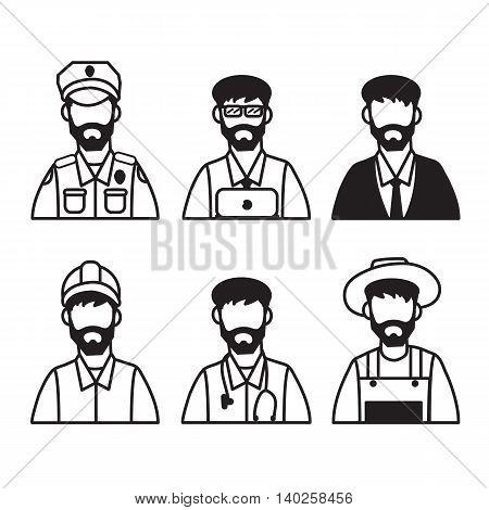Men worker line set easy design .