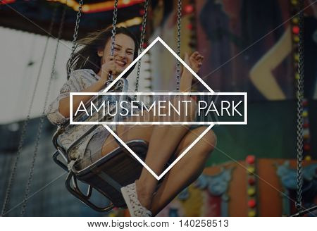 Amusement Park Carnival A Wonderful Life Concept
