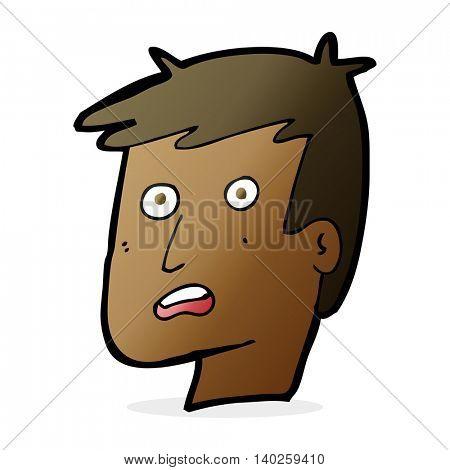 cartoon unhappy face