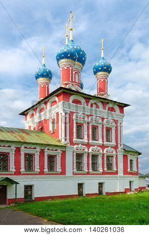 Church of Tsarevich Dmitry on Blood Uglich Kremlin Golden Ring of Russia