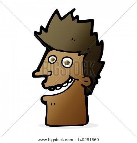 cartoon happy man face