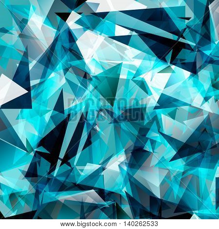 Dark blue bright triangle polygon background frame. Abstract Geometrical Backdrop. Geometric design for business presentations, web template banner flyer. Illustration pattern. Glamour.