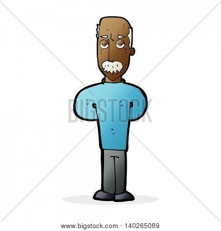 cartoon annoyed balding man