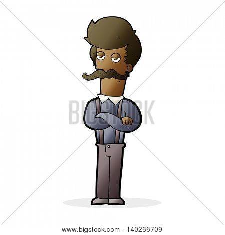 cartoon man with mustache