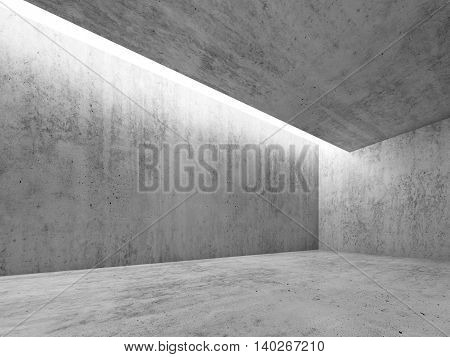 Concrete Room With White Lighting, 3 D