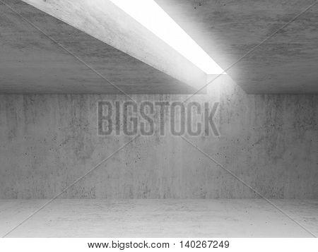 Empty Concrete Room Interior 3 D