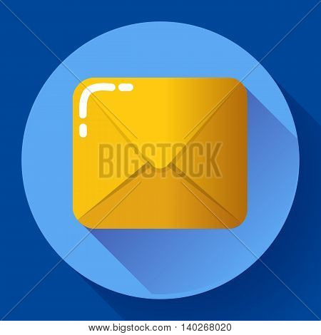 Small parcel package, letter or mail flat icon.